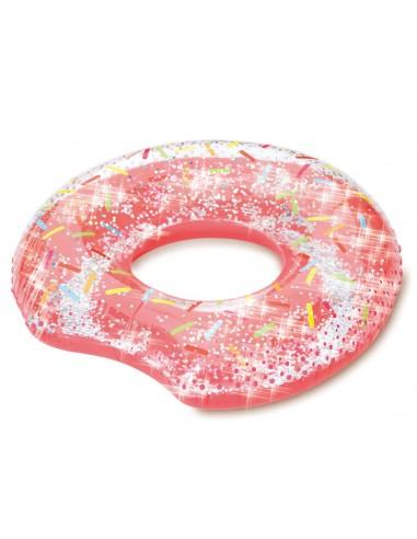 Bouée gonflable donut avec paillettes