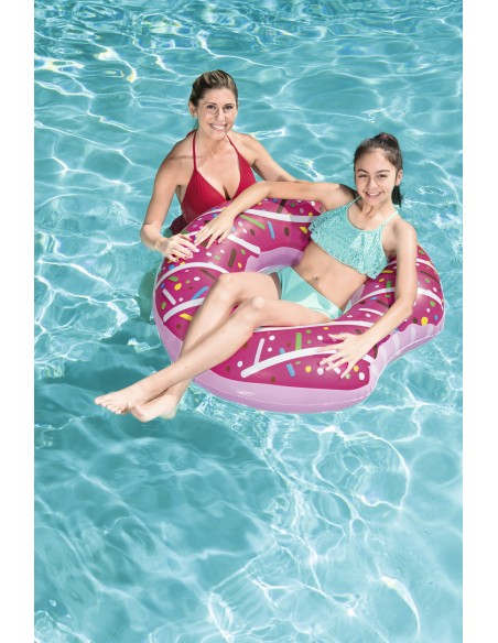 Bouée plage piscine Donuts Fraise BestWay - 5