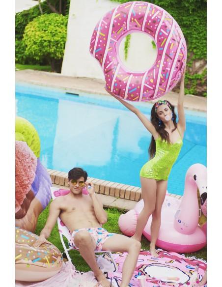 Bouée plage piscine Donuts Fraise BestWay - 7