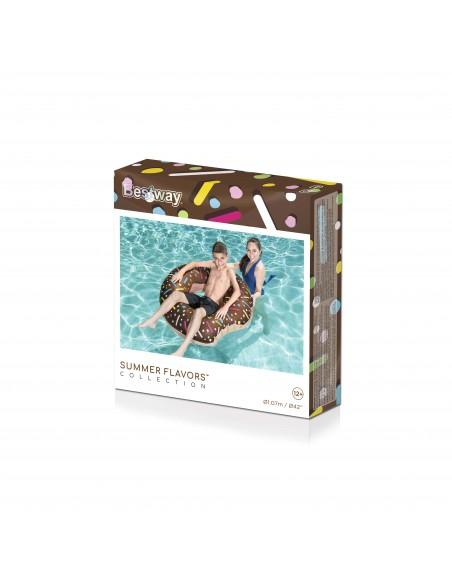 Bouée plage piscine Donuts Chocolat BestWay - 6