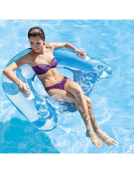 Fauteuil de piscine semi immergé Intex - 3